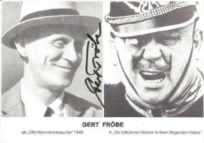 James Bond Gert Frobe signed 6x4 black and white promo photo. Karl Gerhart Gert Frobe 25 February 19