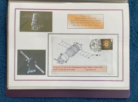 25 Space Exploration FDC with Stamps and FDI Postmarks, Housed in a Binder