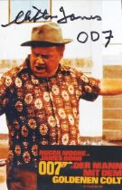 Actor Clifton James 7x4 Signed Coloured Photo