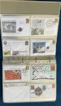 160 Space Exploration FDC with Stamps and FDI Postmarks, Housed in a Binder