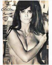 Actor Caroline Munro signed 10x8 black and white