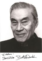 James Bond Burt Kwouk signed 6x4 black and white photo dedicated. Herbert Tsangtse Kwouk, OBE 18 Jul