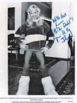 Actor Lynn Holly Johnson 10x8 Signed Black and White Photo