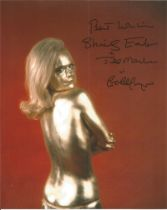 Shirley Eaton signed James Bond 10 x 8-inch colour photo from Goldfinger.