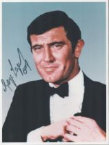 George Lazenby signed 10x8 James Bond colour photo. George Robert Lazenby is an Australian actor, ma