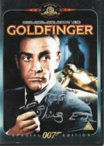 Shirley Eaton signed DVD sleeve from Goldfinger includes DVD and insert.