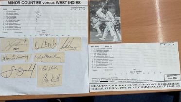 Cricket collection includes signatures of legends of the game such as Geoffrey Boycott, Jeff Thomson