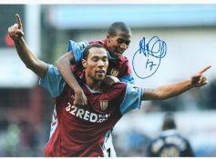 Football Ashley Young signed Aston Villa 16x12 colour photo.