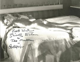 Shirley Eaton signed James Bond 10 x 8 b/w photo from Goldfinger.
