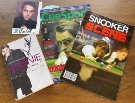 Snooker collection includes 4 fantastic pieces of signed memorabilia from legends Ronnie O'Sullivan,