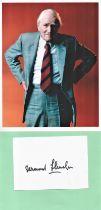 James Bond, Desmond Llewelyn signature piece includes a 10x8 colour photograph plus a signed white c