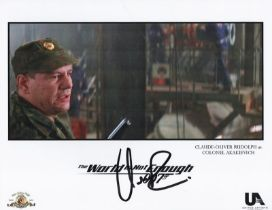 Actor Claude-Oliver Rudolph 10x8 signed Coloured Photo