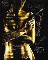 Multi-signed 10x8 007, James Bond colour promo photo.