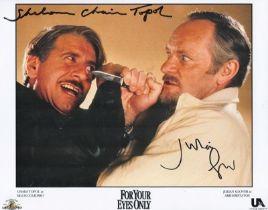Actors Chaim Topol and Julian Glover 10x8 Coloured Photo