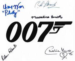 Multi-signed 10x8 007, James Bond promo photo.
