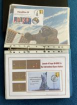 80 Space Exploration FDC with Stamps and FDI Postmarks, Housed in a good Quality Binder