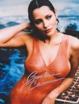 Actor Barbara Carrera Signed 10x8 Coloured Photo