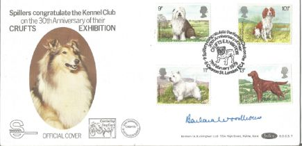 Barbara Woodhouse signed Benham Crufts Official FDC celebrating the 30th anniversary of Crufts BOCS1