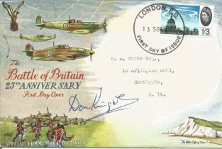 WW2, Donald Kingaby Battle of Britain 25th anniversary special commemorative issue first day cover w