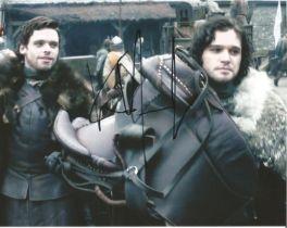 Kit Harington signed 10x8 colour photo. photo was taken during Kits role as Jon Snow on popular tele