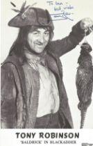 Blackadder Tony Robinson as Baldrick signed 6 x 4 inch b/w photo