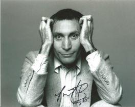 Rolling Stone Charlie Watts signed 10 x 8 inch b/w photo