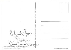Vernon Smith Driver of the Hogwarts Express signed colour postcard.