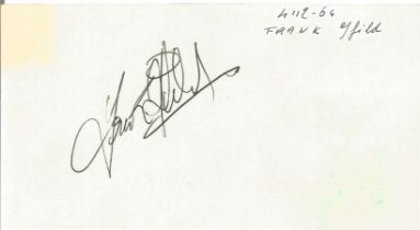 Rod Steiger signed to clear back of Tiberio Restaurant 4 x 3 inch contact card.
