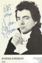 Blackadder Rowan Atkinson signed 6 x 4 inch b/w photo
