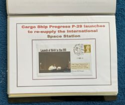 70 Space Exploration FDC with Stamps and FDI Postmarks, Housed in a Binder