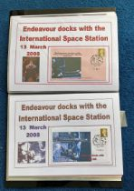 35 Space Exploration FDC with Stamps and FDI Postmarks, Housed in a Binder