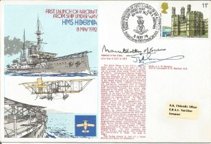 WW2 Mountbatten of Burma and Mjr J Sampson signed 1978 official Navy cover RNSC (2)12 comm. HMS Hibe