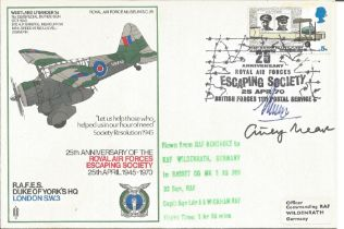 Airey Neave WW2 Colditz escaper signed cover to commemorate the 25th Anniversary of the royal air fo
