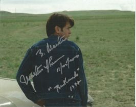 Martin Sheen signed 10x8 inch Badlands colour photo dedicated.