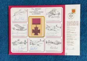Seven Victoria Cross winners signed A4 Victoria Cross to Airmen Cover inc Leonard Cheshire VC, John