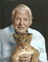 David Attenborough signed 10x8 colour photo. David Attenborough is a national British Hero known for