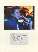 Jermaine Jackson music, signature piece autograph presentation. Mounted with unsigned photo to