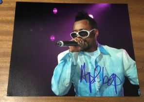 Allan Pineda Lindo actor signed 10 x 8 inch Colour Photo. Filipino American rapper, singer and