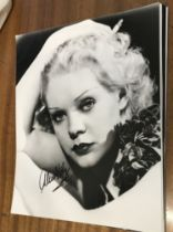 Alice Faye actor signed 10 x 8 inch Black And White Photo. Alice Jeanne Faye was an American actress