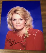 Angie Dickinson actor signed 10 x 8 inch Colour Photo. Dedicated. Angeline Dickinson is an