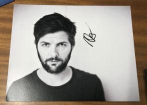 Adam Scott actor signed 10 x 8 inch Black And White Photo. Adam Paul Scott born April 3, 1973, is an