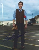 Matthew Morrison actor signed colour photo 10 x 8 inch. Matthew James Morrison is an American actor,