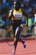 Olympics Anyike Onuora signed 6x4 colour photo.