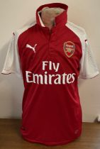Football Pierre-Emerick Aubameyang signed Arsenal replica home shirt.