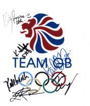 Olympics Team GB 2020 multi signed 10x8 laminate.