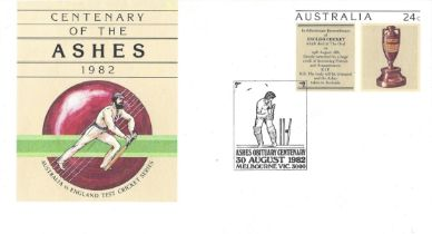 Cricket Australian FDC pre stamped to commemorate the centenary of the Ashes.