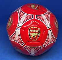 Football Pierre-Emerick Aubameyang signed Arsenal full size football.