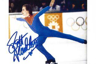 Olympics Scott Hamilton signed 6x4 colour photo.