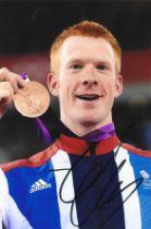 Olympics Ed Clancy signed 6x4 colour photo.