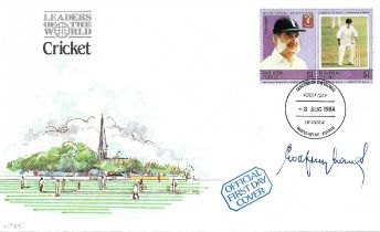 Cricket Godfrey Evans signed Cricket Leaders of the World FDC.